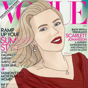 An illustration of Scarlett Johansson